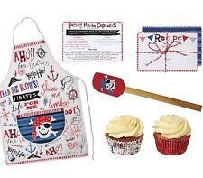 Bambini Set da forno + accessori Pirata Grembiule Ricetta Carta spatola cutter piatti da forno