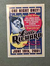 Little Richard Concert Poster Seattle 2001 Original Sky Church