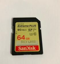 64GB SanDisk Extreme PLUS SD SDXC Memory Card UHS-1 4K U3 90MB/Sec Class 10 V30