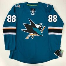 BRENT BURNS SAN JOSE SHARKS EDGE AUTHENTIC RBK JERSEY SIZE 52