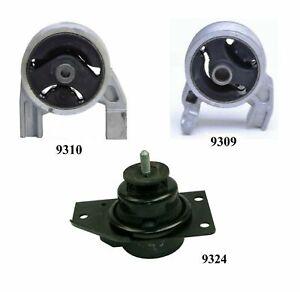 3 PCS FRONT & REAR MOTOR MOUNT FIT 2006-2011 Fits Hyundai Accent 1.6L