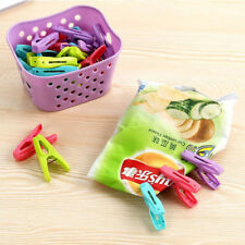 24x Plastic Laundry Clothes Pins Hanging Clothes Peg Dryer Clip With Basket
