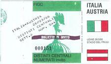 69551 -  BIGLIETTO PARTITA CALCIO 1986 : ITALY Italia /  AUSTRIA
