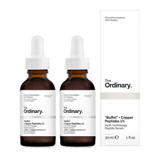 "NEW The Ordinary ""Buffet"" + Copper Peptides 1% [Double Pack] 2 x 30ml Womens"