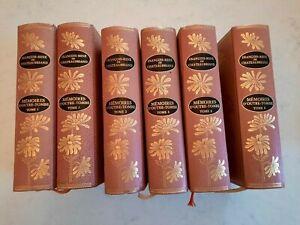 Chateaubriand  Mémoires d'outre-tombe en 6 volumes cuir  Jean de Bonnot 1968
