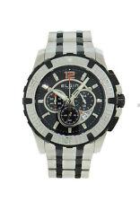 Elgin 1863 52107.2 Men's Black Round Chronograph Date Stainless Steel Watch