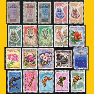 LOT 20 TIMBRES DE HAUTE VOLTA - ANNEES 1920 A 1971 - NEUFS **