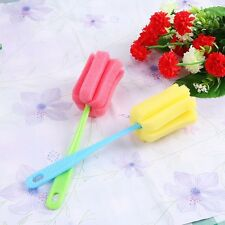 2 x Cup & Glass Sponge / Bottle Brush Cleaning Washing Dishes Tool with Handle