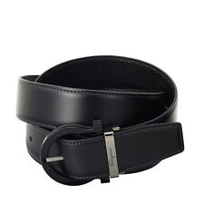 Salvatore Ferragamo Reversible Adjustable Leather Belt 67-8924BK-115
