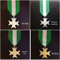 Medaglia Croce di Anzianità di Servizio 16/25/40 anni per Esercito/Carabinieri