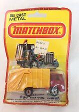 MatchBox  1979 Refuse Truck # 36 Die Cast Metal Yellow Garbage Truck