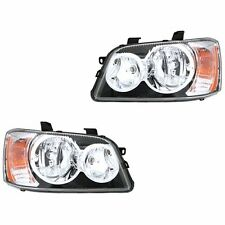 Fits 2001-2003 Toyota Highlander Driver + Passenger Side Headlight Lamp 1 Pair