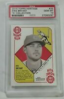 2015 Topps Heritage '51 Collection Kris Bryant Rc PSA 10 Gem Mint - Cubs Rookie