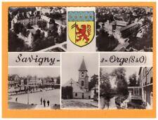 SAVIGNY-sur-ORGE (91) EGLISE & VILLAS en vue aerienne & BLASON vers 1950-1960
