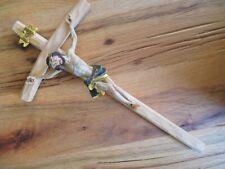 Jesus cross Wood 35 cm to Hang up Jesus Wall cross Poly Inri New