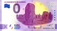 56 CARNAC Alignements 2, 2021, Anniversaire, Billet Euro Souvenir