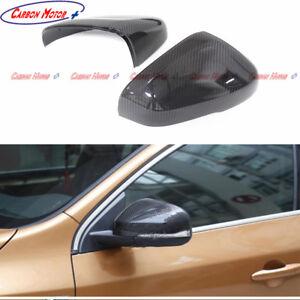 Carbon Fiber Side Rear-view Mirror Cover Casing for Volvo S60 V60 V40 2012-2017