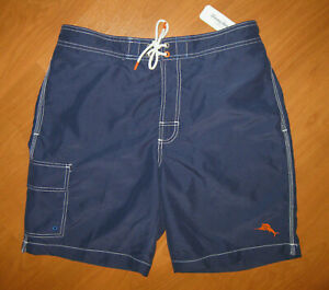 NWT New Tommy Bahama Baja Beach Men's Throne Blue Swim Trunks Shorts Size M