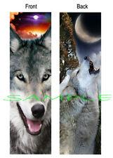 WOLF BOOKMARK Book Mark WOLVES WIldlife Wild Pack Animal Moon CARD figurine