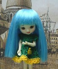 "Doll Wig, Monique Gold ""Yvette"" 3.25""  - Blue Moon - for Amelia Thimble"