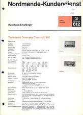 Nordmende Service Manual für Elektra-Skandia 3.612