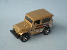 MATCHBOX TOYOTA LAND CRUISER 1968 ORO corpo in BP toy model car