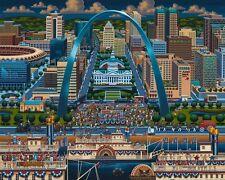 Jigsaw puzzle Explore America St Saint Louis Missouri NEW 500 piece Made in USA