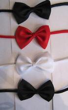 Boys Toddlers  Bow Tie black red blue white  weddings christenings elastic new