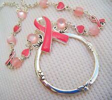 BREAST CANCER Pink Ribbon-ID Key Lanyard-30 inches