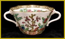 Coalport Indian Tree Twin Handled Sugar Bowl Circa.1900