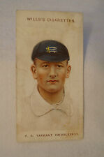 1908 Vintage Wills Cricket Card - F.A. Tarrant - Middlesex.