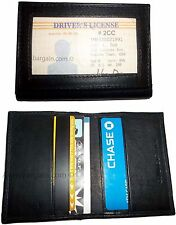 2 Leather business card credit card case ID card ATM card case card holder BNWT