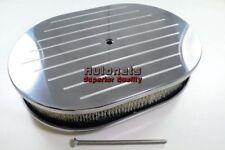 """12"""" Oval Aluminum Air Cleaner Filter 4 Barrel Carbs Sbc Hot Rod Rat Rod Kustom"""