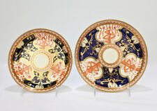 2 Antique Spode Porcelain Dollar or Money Tree Pattern Plates - Imari 715 PC