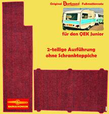 BARKONAUT Fußmattenset für QEK Junior / 2-teiliges Teppichset / umkettelt
