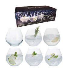 Personalised Dartington 6 Stemless Party Gin & Tonic Copa Glasses Add Message