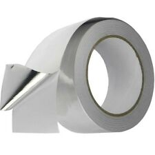 3 ROLLS SILVER  ALUMINIUM FOIL TAPE SELF ADHESIVE 50MM X 50M HEAT INSULATION