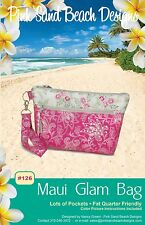 "MAUI GLAM BAG Purse Sewing Pattern by Pink Sand Beach Designs 11"" x 7"" x 3"""