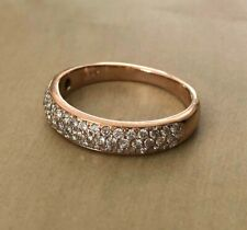 14kt Rose Gold Diamond Pave Wedding Band $2000