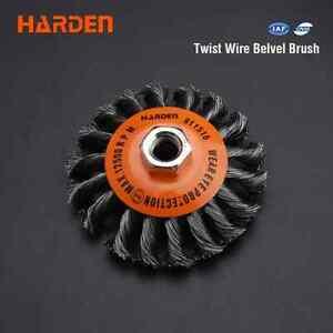 HARDEN 100MMXM14x2.0 TWIST WIRE BEVEL BRUSH