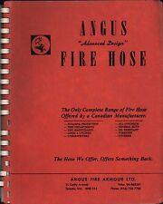 ANGUS FIRE HOSE. 1979. Toronto. Vintage firefighting Canada  c4.615B