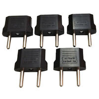 5Pcs USA US To EU Europe Euro Travel Charger Power Adapter Converter Wall Plug