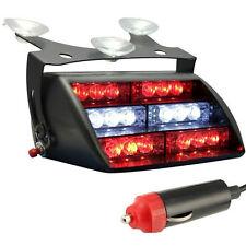 12V 18LED Red White Dash Windshield Emergency Strobe Flash Light for Car Truck