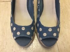 Whitestuff ladies shoes size 5 new spots wedges