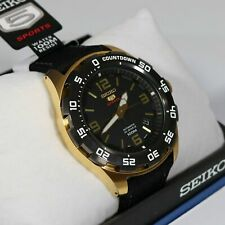 Seiko 5 Sports Gold Automatic Cloth Strap Men's Watch SRPB86K1