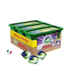 ARIEL Lessive 3en1 lavage linge couleurs Pack- Capsules - x 114 promo