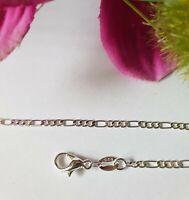 5 Stk Figaro Kette Halskette 60cm 925 Silber pl 3 mm Flohmarkt Händler NEU Poste