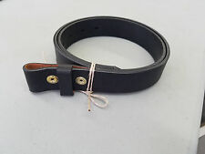 """Black English Bridle Leather Belt for Snap on Buckles, Made in USA 1.25"""" Size 42"""