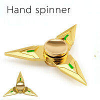 Tri Fidget Hand Finger Spinner Triangle Metal EDC Focus Autism ADHD Adult Toy