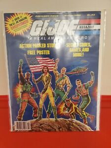 G.I. JOE MAGAZINE - PREMIER ISSUE WINTER 1985 Vintage Collectable Stock Photo